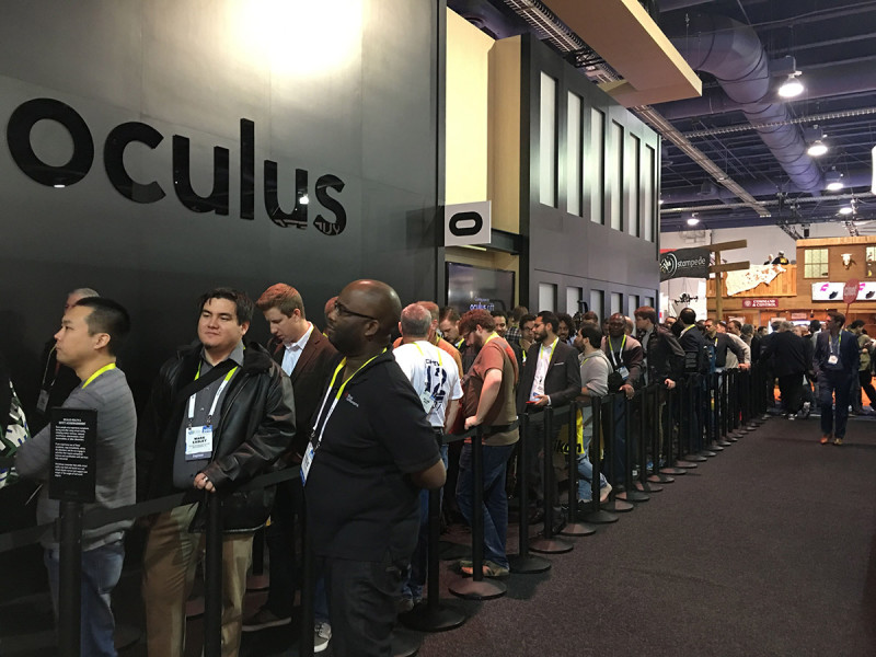 Stoisko Oculus dzień poogłoszeniu ceny Rift.