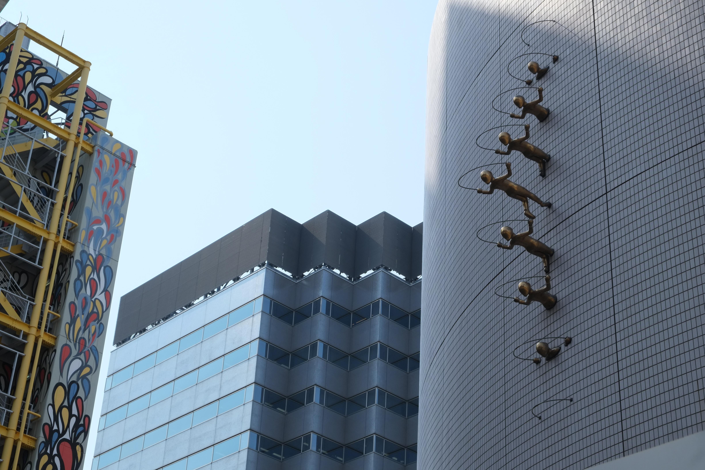 Tokyo architecture outdoor art installation girl