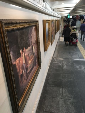 Art in the subway of Tokyo metro station