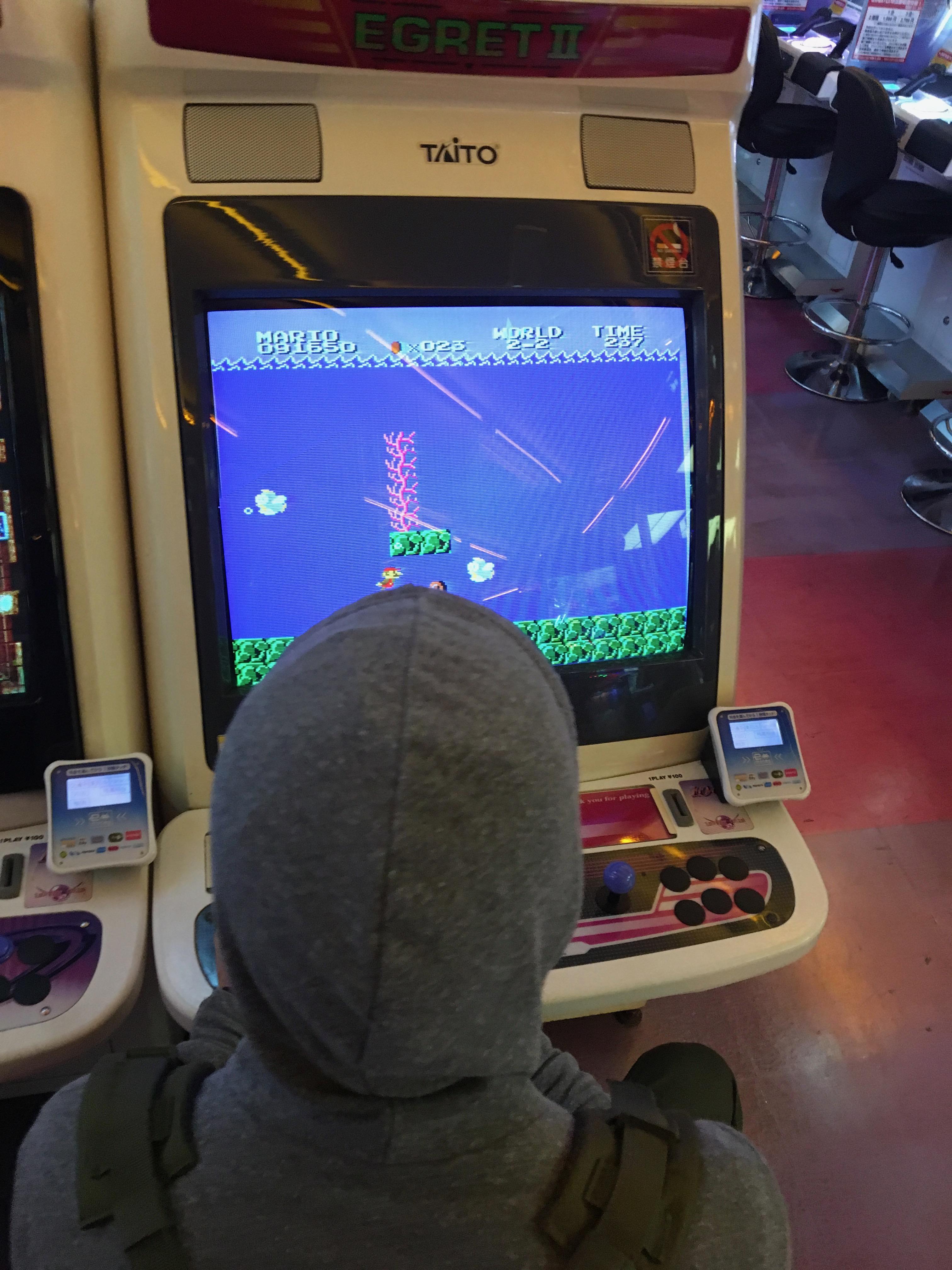 Arcade games in Taito Games Tokyo