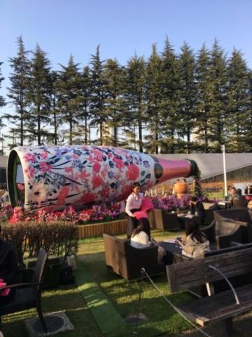 Chandon garden summer outdoor marketing champagne